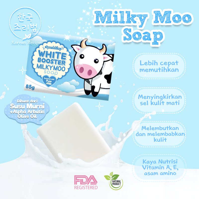 SPARKLING WHITE BOOSTER MILKY MOO SOAP 1pc