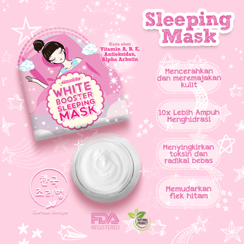 SPARKLING WHITE BOOSTER SLEEPING MASK