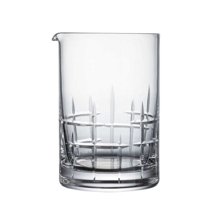 B&G Signature Mixing Glass - Mondrian Pattern 550ml | Blown Crystal