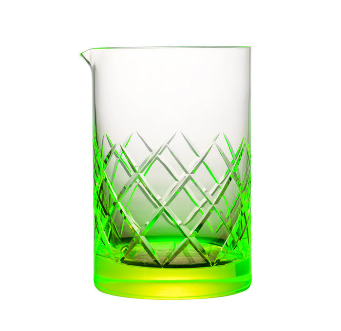 B&G Signature Mixing Glass - Yarai Pattern 550ml | Uranium Glass