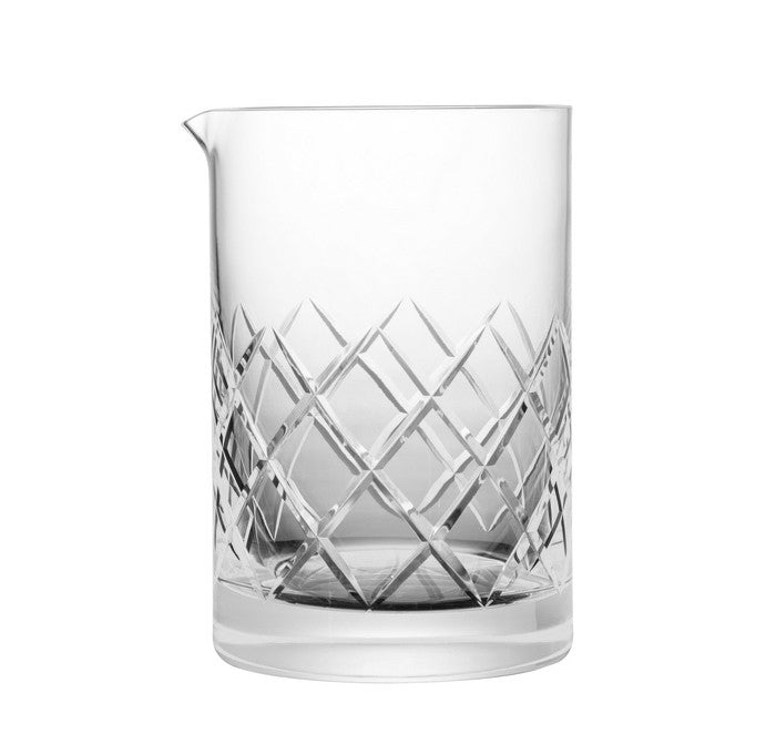 B&G Signature Mixing Glass - Yarai Pattern 550ml | Blown Crystal