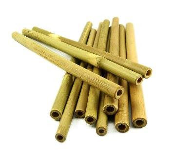 Natural Bamboo Straw - 22cm (10 pieces) | Bamboo