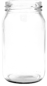 Mason Jar - 360ml (with lid) | Glass
