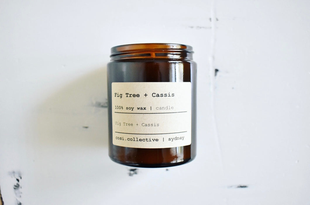 Fig Tree + Cassis soy candle