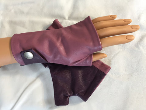 Purple Short Gloves