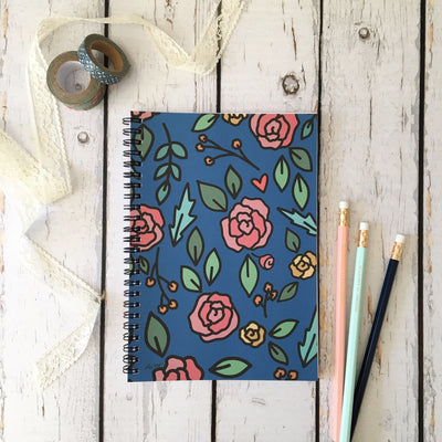 Navy Floral -- Journal