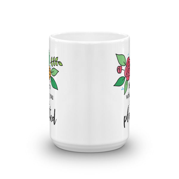 Bloom -- White Glossy Mug