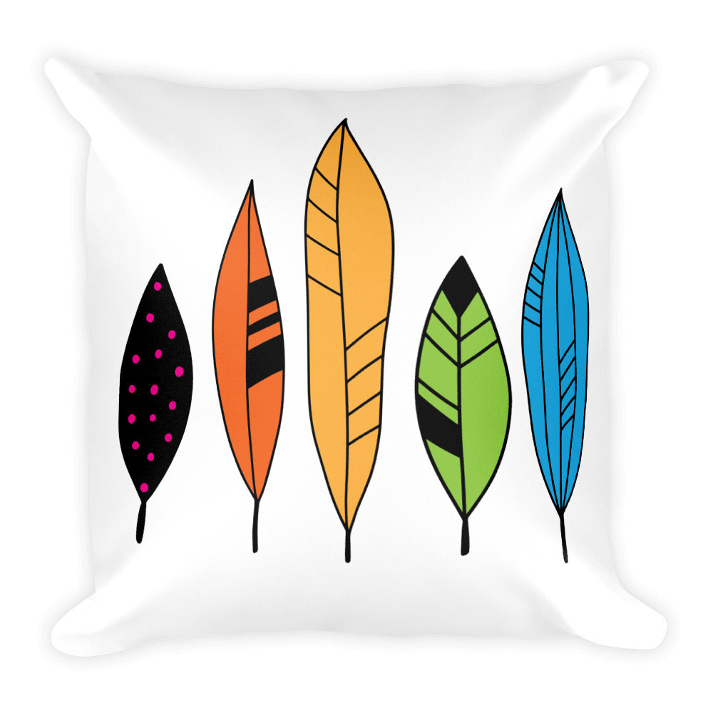 Feathers -- Square Pillow