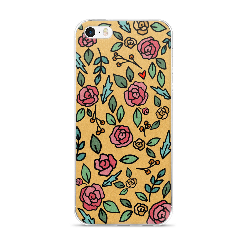 Mustard Floral -- iPhone Case