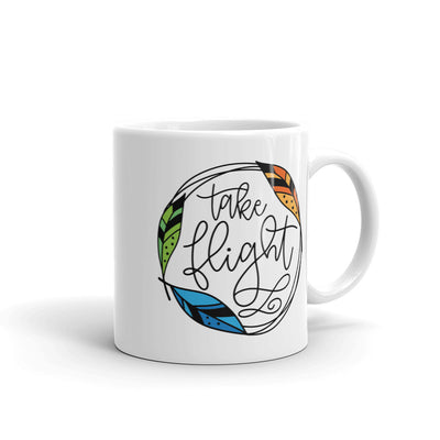 Take Flight -- White Glossy Mug