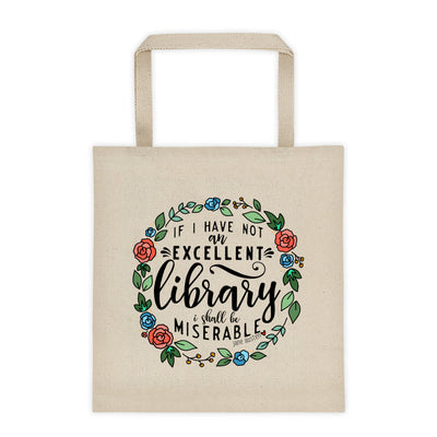Excellent Library -- Tote bag