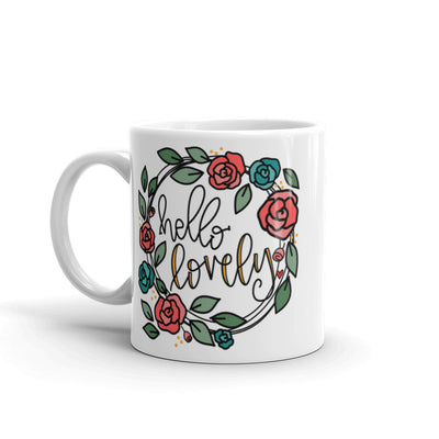 Hello Lovely -- White Glossy Mug