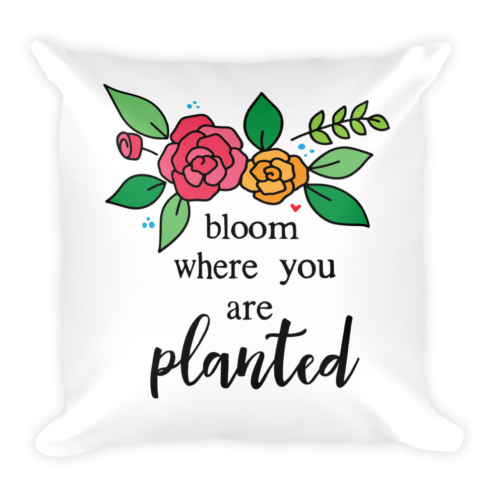 Bloom -- Square Pillow