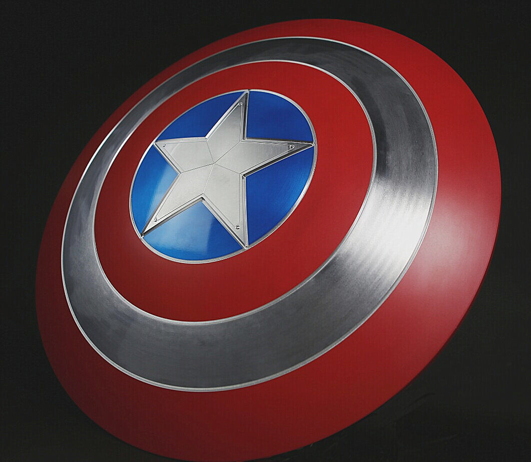Classic Captain America Shield Aluminum Alloy (100% Metal)