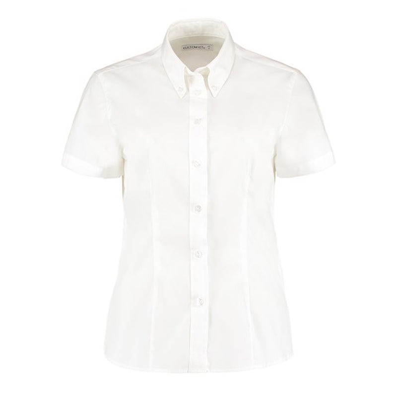 Corporate Oxford Ladies Short Sleeve Blouse