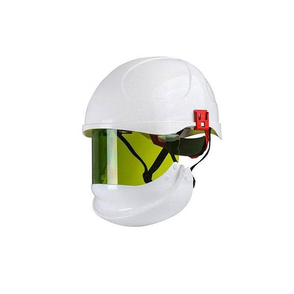 Arc Flash Helmet / Visor (24cal/cm²) (Visor Down)