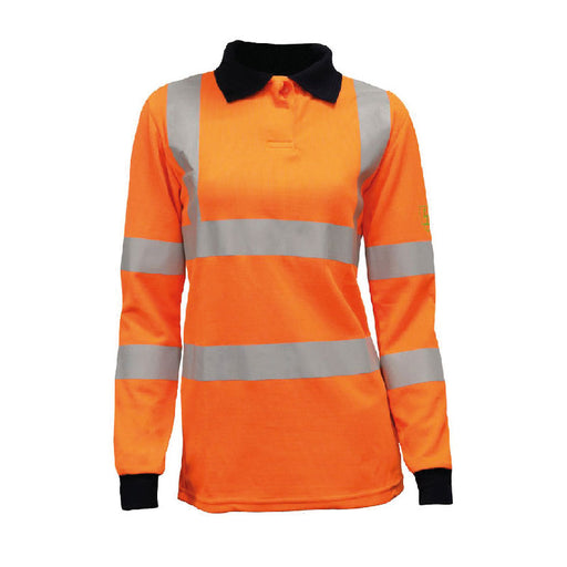 ARC Ladies Hi-Viz Poloshirt (CL.1/ARC2/ATPV 7.7) - Skanwear®