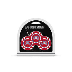 Montreal Canadiens 3 Pack Golf Chips