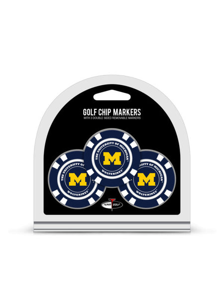 Michigan 3 Pack Golf Chip Ball Markers