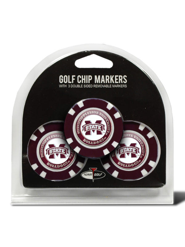 Mississippi State 3 Pack Golf Chip Ball Markers