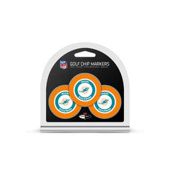 Miami Dolphins 3 Pack Golf Chip