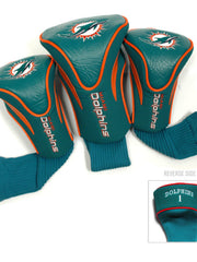 Miami Dolphins 3 Pk Contour Sock Headcovers