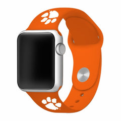 Clemson Tigers Silicone Apple Watch™ Band - Orange