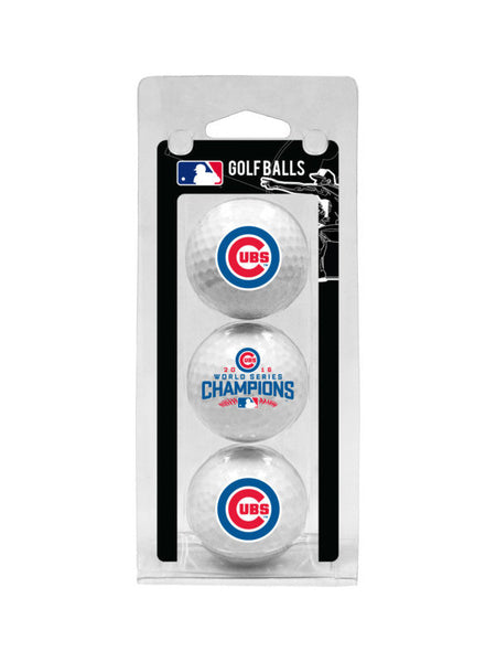 Chicago Cubs World Series Champions 3 Ball Pack