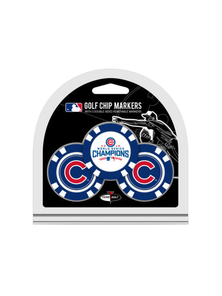 Chicago Cubs World Series Champions 3 Pack Golf Chip Ball Markers