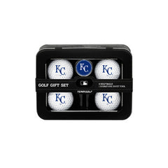Kansas City Royals 4 Ball Tin Gift Set