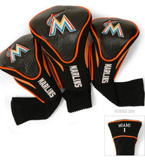 Miami Marlins 3 Pk Contour Sock Headcovers