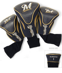 Milwaukee Brewers 3 Pk Contour Sock Headcovers