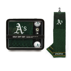 Oakland Athletics Embroidered Towel Tin Gift Set