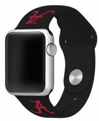 Alabama Crimson Tide Silicone Apple Watch™ Band - Black