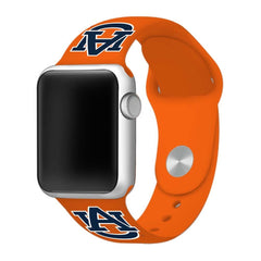 Auburn Tigers Silicone Apple Watch™ Band - Burnt Orange