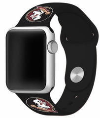 Florida State Seminoles Silicone Apple Watch™ Band - Black