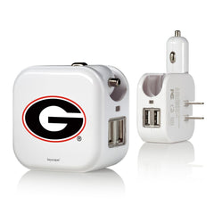 Georgia Bulldogs 2 in 1 USB Charger