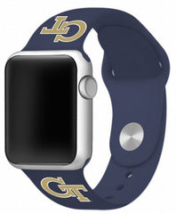 Georgia Tech Yellow Jackets Silicone Apple Watch™ Band - Blue