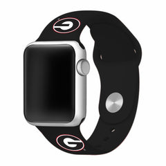 Georgia Bulldogs Silicone Apple Watch™ Band - Black