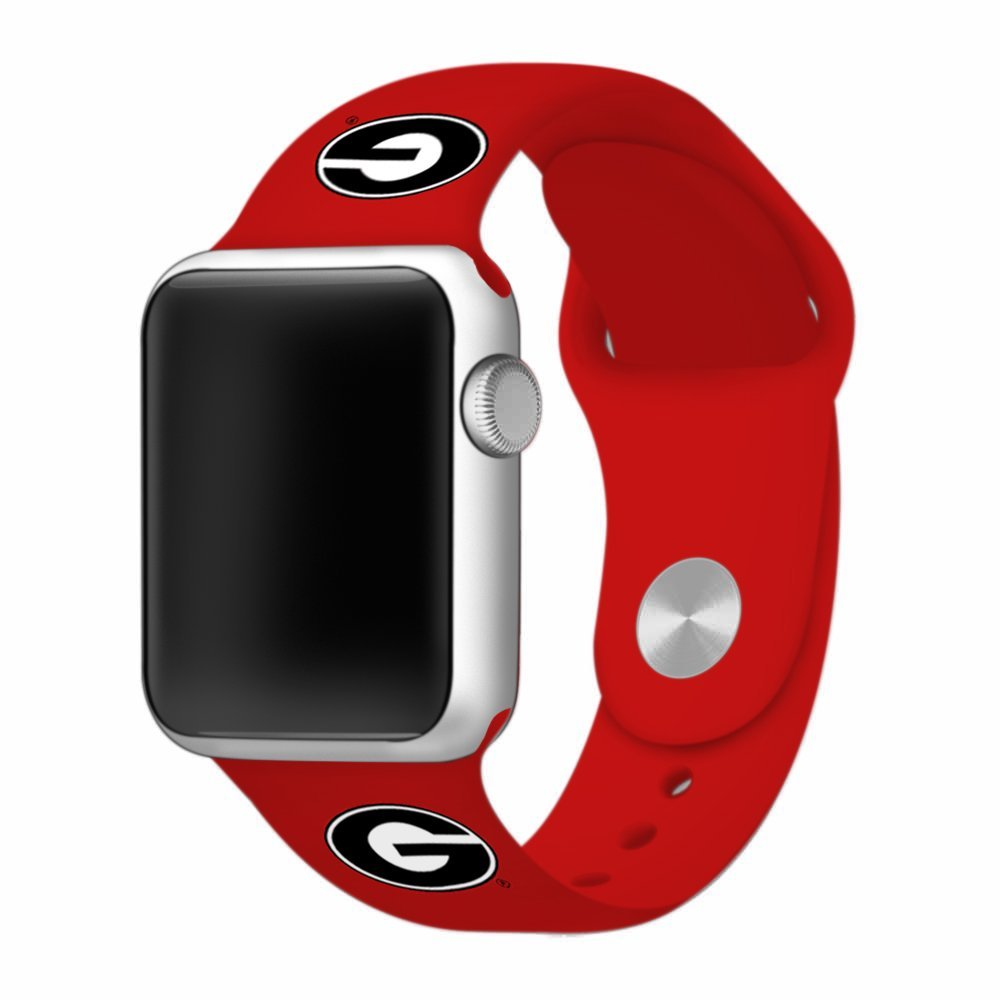 Georgia Bulldogs Silicone Apple Watch™ Band - Red