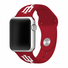 Indiana Hoosiers Silicone Apple Watch™ Band - Crimson