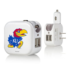 Kansas Jayhawks 2 in 1 USB Charger