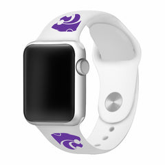 Kansas State Wildcats Silicone Apple Watch™ Band - White