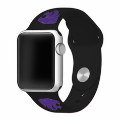 Kansas State Wildcats Silicone Apple Watch™ Band - Black