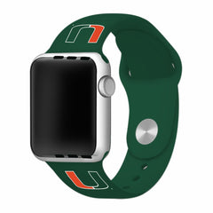 Miami Hurricanes Silicone Apple Watch™ Band - Green