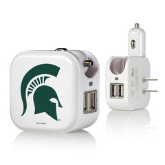 Michigan State Spartans 2 in 1 USB Charger