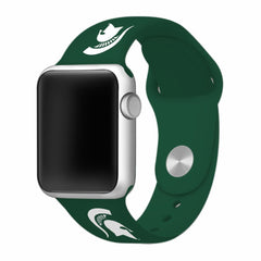 Michigan State Spartans Silicone Apple Watch™ Band - Green V1