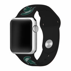 Michigan State Spartans Silicone Apple Watch™ Band - Black