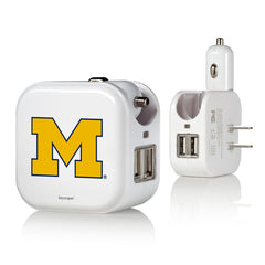 Michigan Wolverines 2 in 1 USB Charger