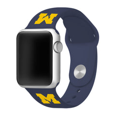 Michigan Wolverines Silicone Apple Watch™ Band - Blue